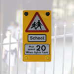 Flashing Speed Enforcement School Signs